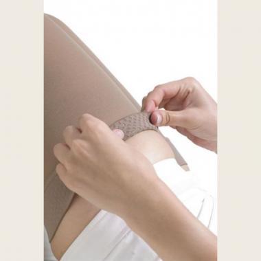 Компрессионные чулки до бедра с открытым носком слабой компрессии