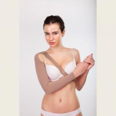 Онкологический рукав удлинненный с креплением на плечо высокой компрессии