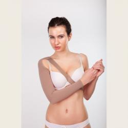 Компрессионный рукав удлинненный с креплением на плечо слабой компрессии