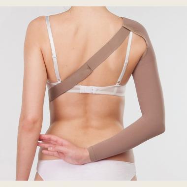 Онкологический рукав удлинненный с креплением на плечо средней компрессии