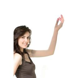 Компрессионный рукав удлиненный с перчаткой слабой компрессии