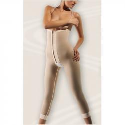 Компрессионное корректирующее белье ниже колен с высоким поясом, липосакция, спорт