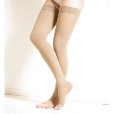 Компрессионные чулки до бедра с открытым носком сверхвысокой компрессии 9430