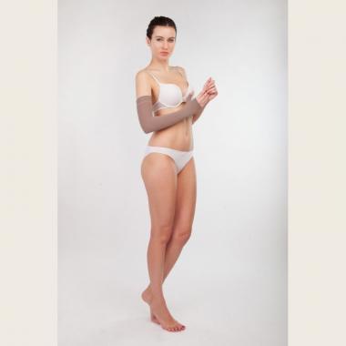 Компрессионный рукав после мастэктомии операции на груди, удлиненный с перчаткой 2 компрессии