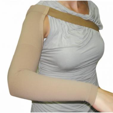 Компрессионный рукав после мастэктомии операции на груди, удлинненный с креплением на плечо 2 компрессии