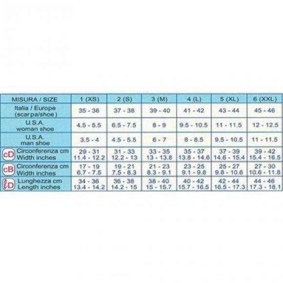 Гольфы 2 степень компрессии прозрачные (23-26mmHg)