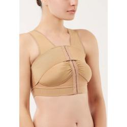 Компрессионный послеоперационный топ бюстгальтер после увеличения ( маммопластики ) груди на крючках со стабилизатором