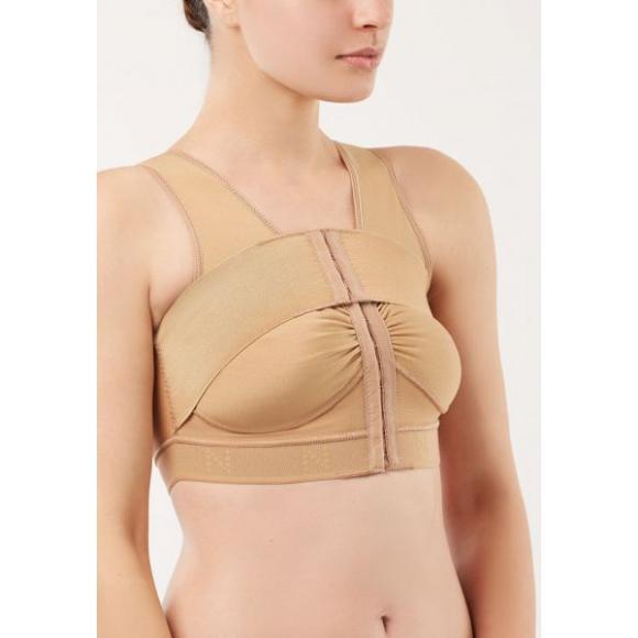 Компрессионный топ бюстгальтер после увеличения ( маммопластики ) груди на крючках со стабилизатором