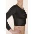 Компрессионная рубашка с длинным рукавом после операции на молочной железе, руках, плечах, спине со сборкой на груди