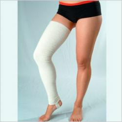 Чулок компрессионный (чулок выше колена), со швом для лечения венозной недостаточности и лимфостаза