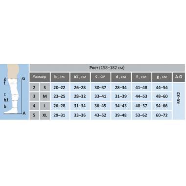 Чулки (до бедра) компрессия-1 р.5(ХL) рост 2 (170-182см) черные с мыском мод.4002, пар