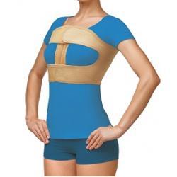 Бандаж фиксирующий по линии груди женский 4 ребра жесткости, высота 24см (хлопок, латекс, полиэфир)