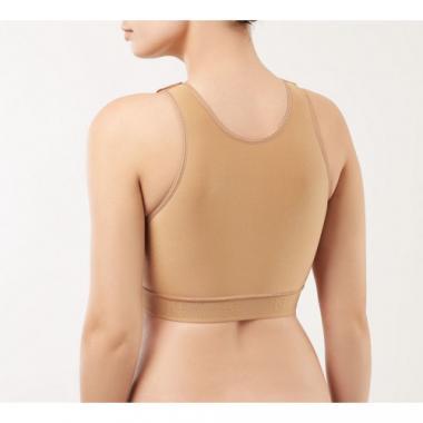 Компрессионный топ бюстгальтер (закрытый) со стабилизатором - лентой после увеличения груди, маммопластики, операции на сердце