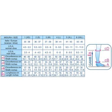 Гольфы компрессионные (26-29 mmHg) 240 den открытый мысок