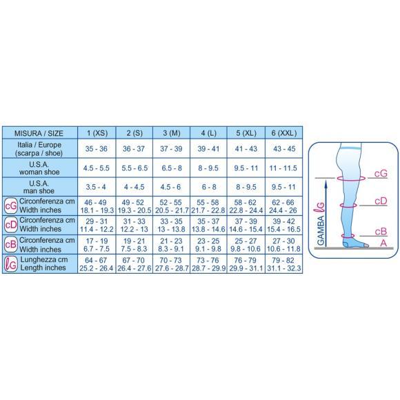 Колготки компрессионные  1 класс (19-22mmHg) 140 den открытый носок (мысок)