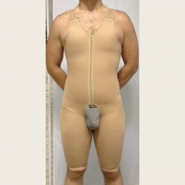 Бандаж мужской компрессионный после операций, ожогов, корректирующий все тело
